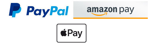 Fast and secure payment with credit card, PayPal Express and Amazon Payments