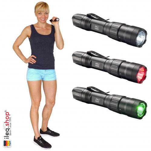 7600 3-Color Tactical LED Flashlight