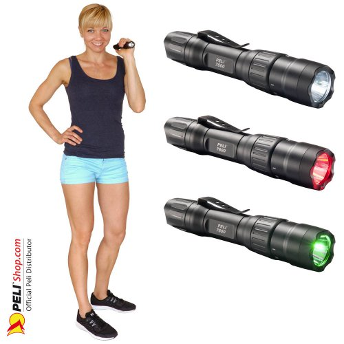 7600 3-Color Tactical LED Flashlight