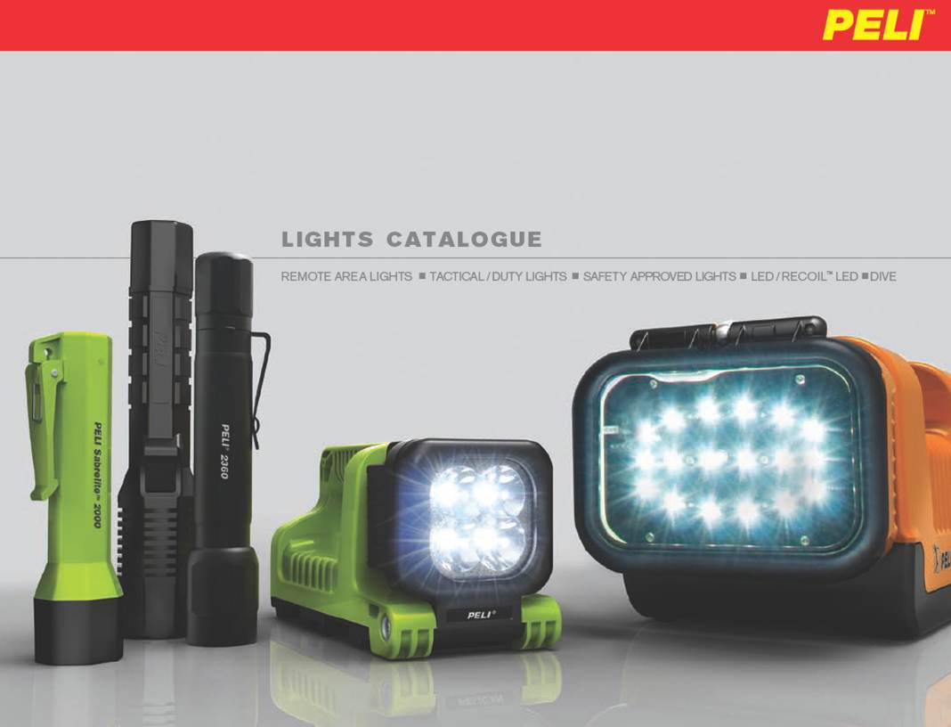 Peli Lights Catalogue