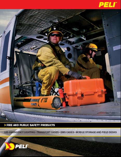 Peli Lights Fire and Public Safety Brochure