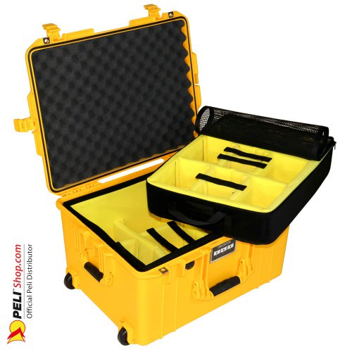 1607 AIR Case With Divider, Yellow