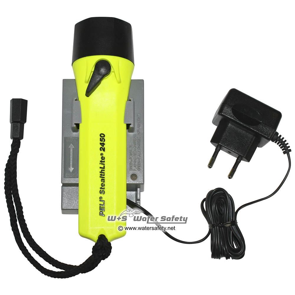 Peli 2450 Stealthlite Rechargeable, Fl. Yellow | PeliShop.com | Peli™  Distributor | Public Authorities, Industry, Retail, Business, Consumers |  Since 1999