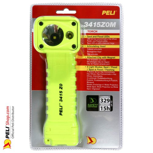 3415Z0M LED ATEX Zone 0 Flashlight, ATEX 2015, Yellow