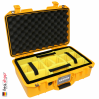 1485 AIR Case, PNP Latches, With Divider, Yellow