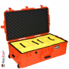 1615 AIR Check-In Case, PNP Latches, With Divider, Orange