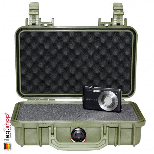1170 Case W/Foam, OD Green