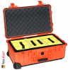 1510 Carry On Case, W/Dividers, Orange